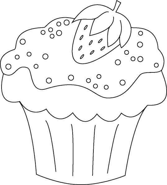 Cupcakes Kostenlose ausmalbilder Malvorlagen frühling