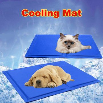 65cm x 50cm Dog Pet Self Cooling Mat Gel Ice Pad Bed Cat Kitty Cushion Heat Hot - Newchic Mobile.