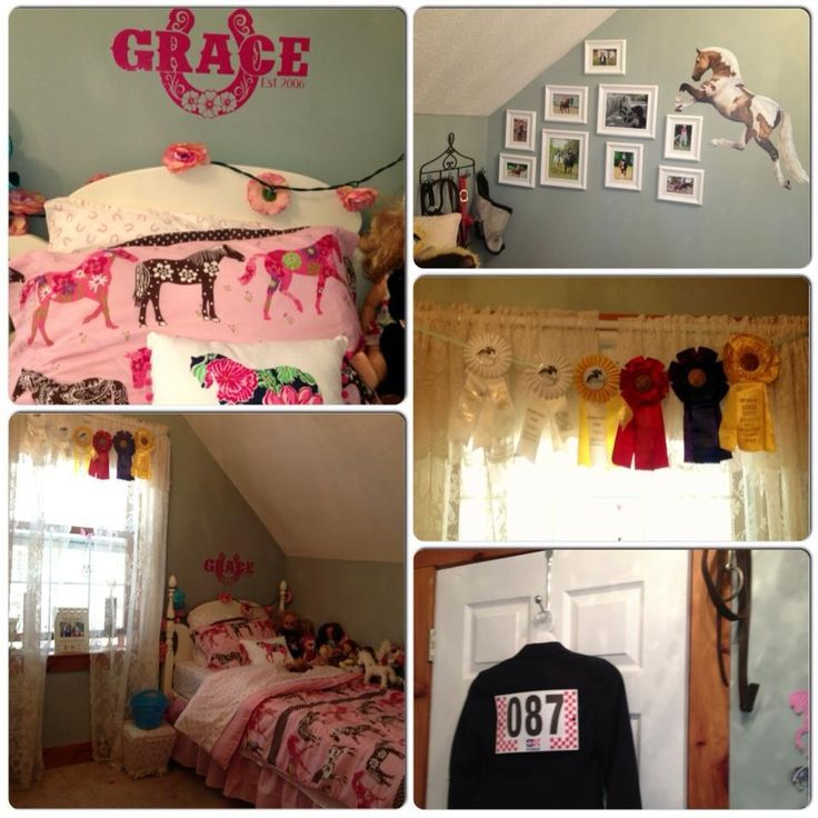 17 Best Images About Girls Bedroom Ideas On Pinterest Horse Ribbons Equest