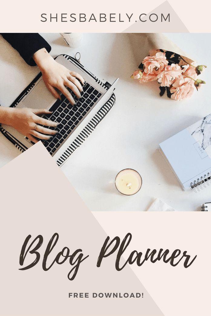 Free Blog Planning Guide: Shes Babely Blog Planner free download freebie how to start a blog free blogging tips best hosting blog help   ShesBabely.com