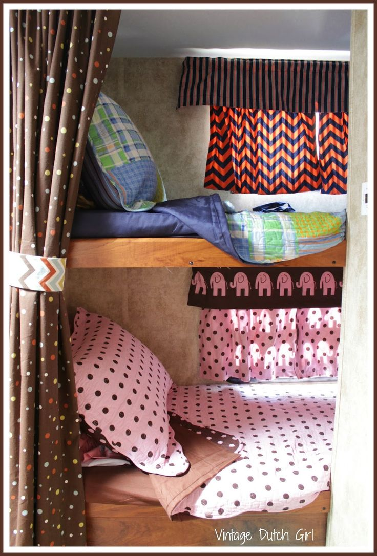 Vintage Dutch Girl: Travel Trailer Makeover, Part 9: Bunk Beds and Windows