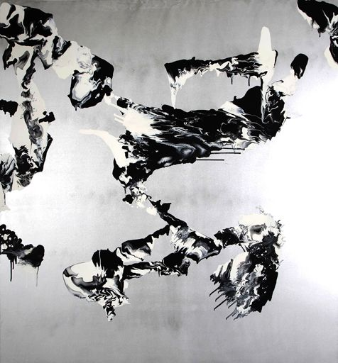 Ultramagnetic  Rory McCartney, 2010 Oil, resin and lacquer on canvas 211 x 193 cm