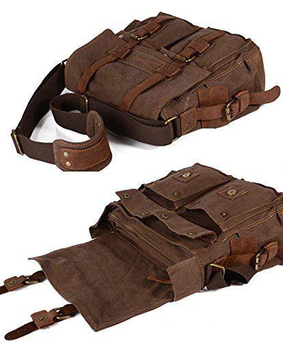 Military Canvas Messenger Shoulder Bag