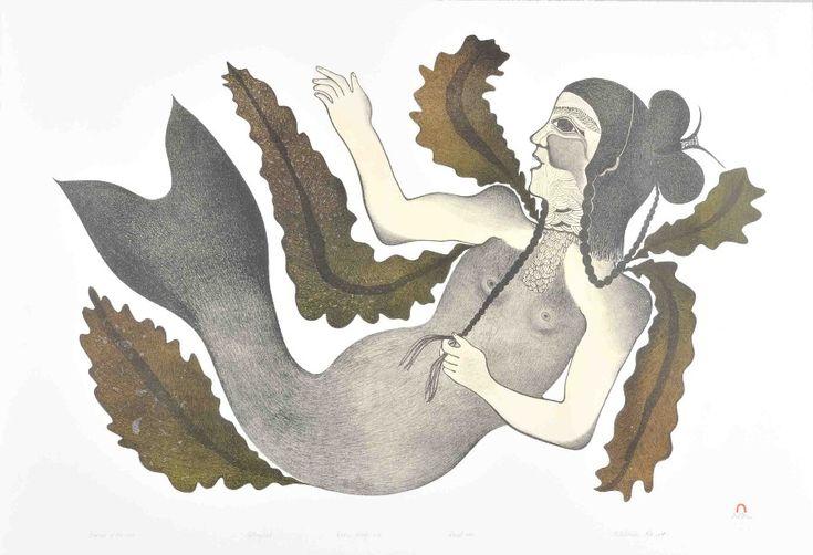 Empress of the Sea, lithographie, Saila, Pitaloosie - Images Boréales Galerie d'Art Inuit, 4, rue St-Paul, Montréal, Qc H2Y 1G1