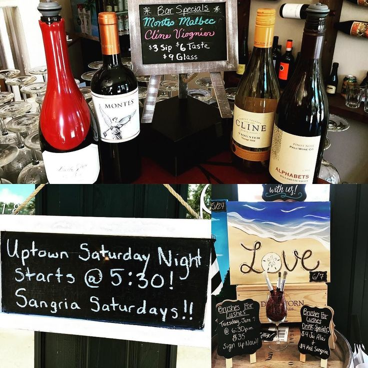 Uptown Saturday Nights starts tonight at 5:30pm at Carrera Wine Cellar 35 San Marcos Ave!! We'll have our sangria expert in house to start your Memorial Day weekend off right with samples of red sangria While your strolling through uptown remember to stop in and sign up for our next Brushes For Lushes class on Tuesday 6/7 spaces are filling up fast! All military active or inactive duty with valid ID enjoy 20% off your entire purchase (excluding reserve bottle room) this weekend…
