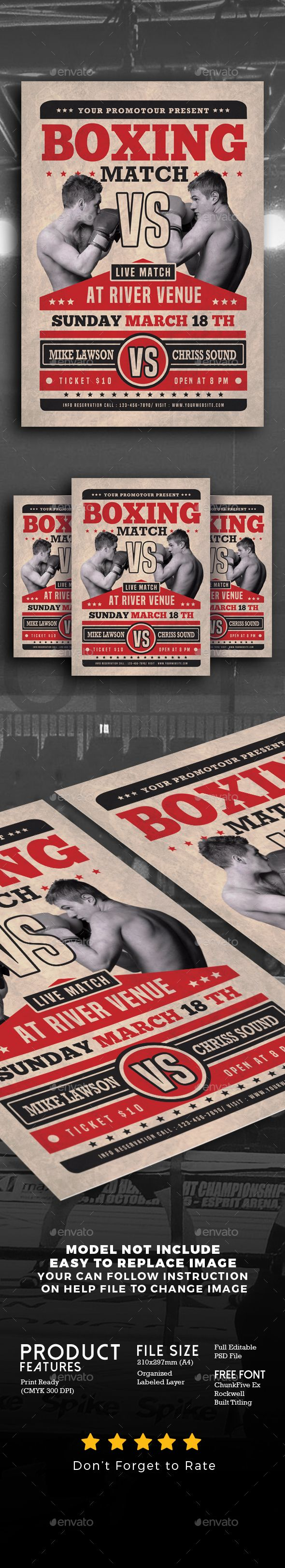 Boxing Match Flyer - Events Flyers
