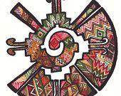 Articles similaires à Zentangle dessinés à la main symbole Maya en Quechua « famille » sur Etsy