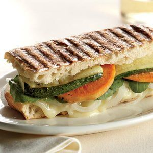 This Brie-and-Vegetable Panini recipe serves 4 and is less than $3 per ...