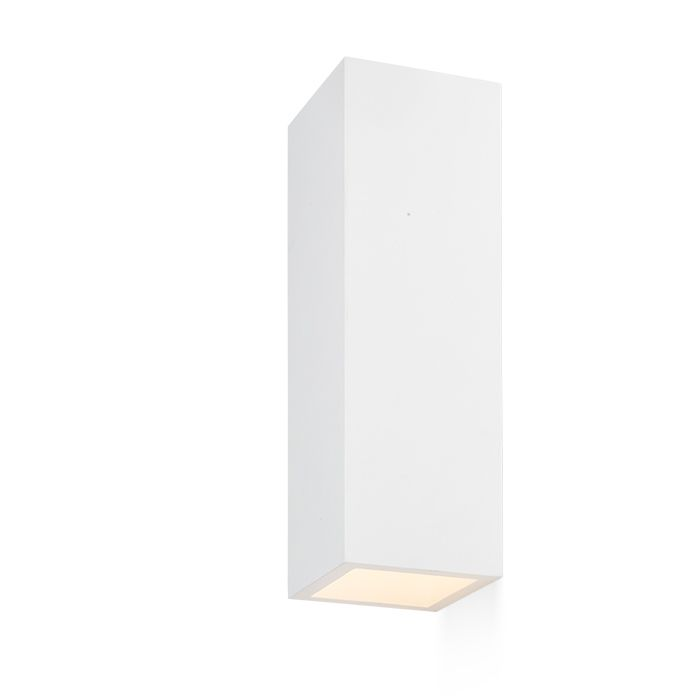 JACK RC WALL | rendl light studio | Plaster wall light with a G9 socket. Can be colored with regular wall paint. #lighting #minimal #white #interior