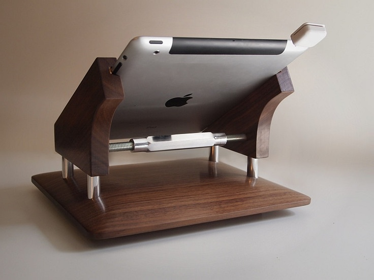 The original wood iPad stand for the Square payment system, point of sale, cash register, Intra-Stand. $188.00, via Etsy.
