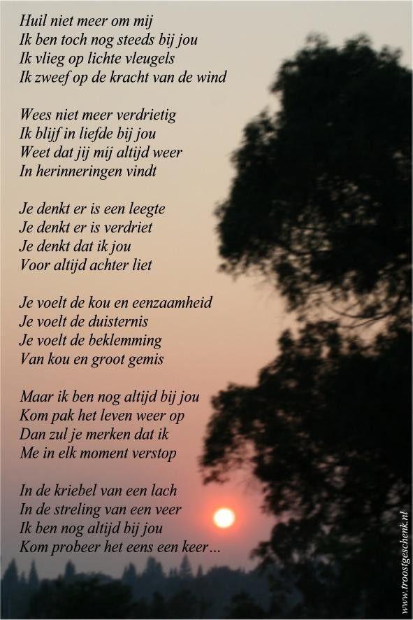Huil niet meer om mij  #gedicht www.troostgeschenk.nl