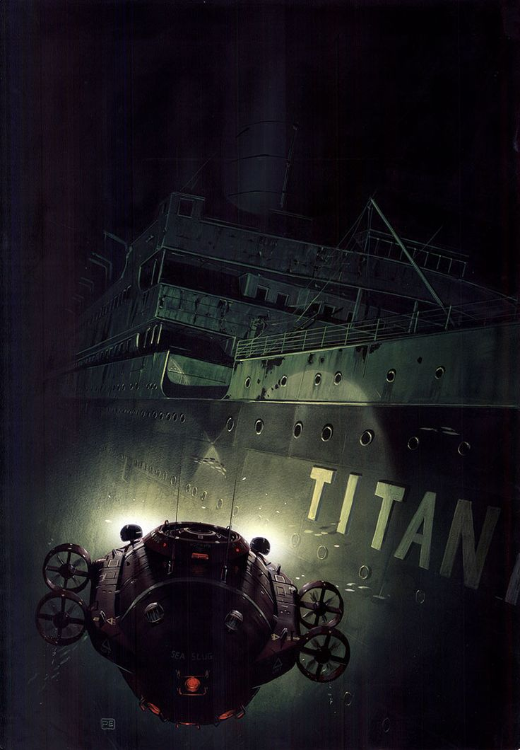 Titanic Pictures Underwater | Titanic by Peter Elson, Science Fiction Illustrator