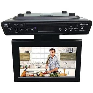 """Sylvania 10.2"""" Under-counter Bluetooth Kitchen TV With Built-in DVD Player & HDMI"""