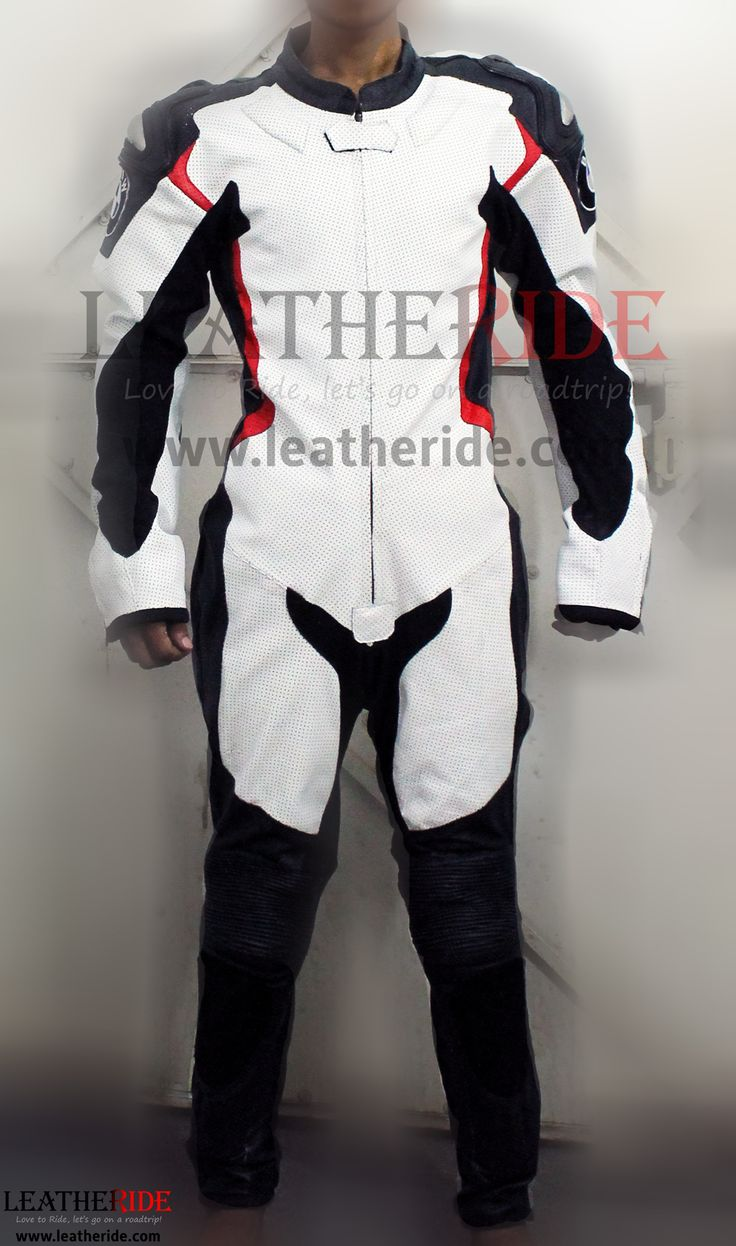BMW DoubleR Race Leather Suit Selected top grain leather is specially processed and drum dyed. Internal protection on shoulder, elbow and knee are CE approved.   http://leatheride.com/bmw-doubler-race-leather-suit/  #BMWDoubleR, #LeatherSuit, #Race #RaceSuits