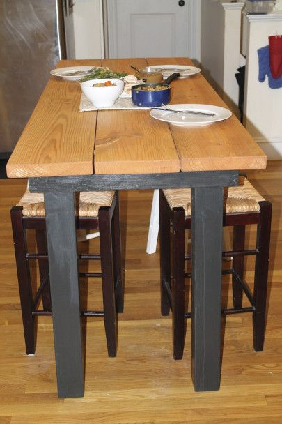 Long Bar Height Table DIY! Charles is making me this!!!! Yay for the best boyfriend ever!