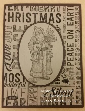 Quick and easy Father Christmas card.