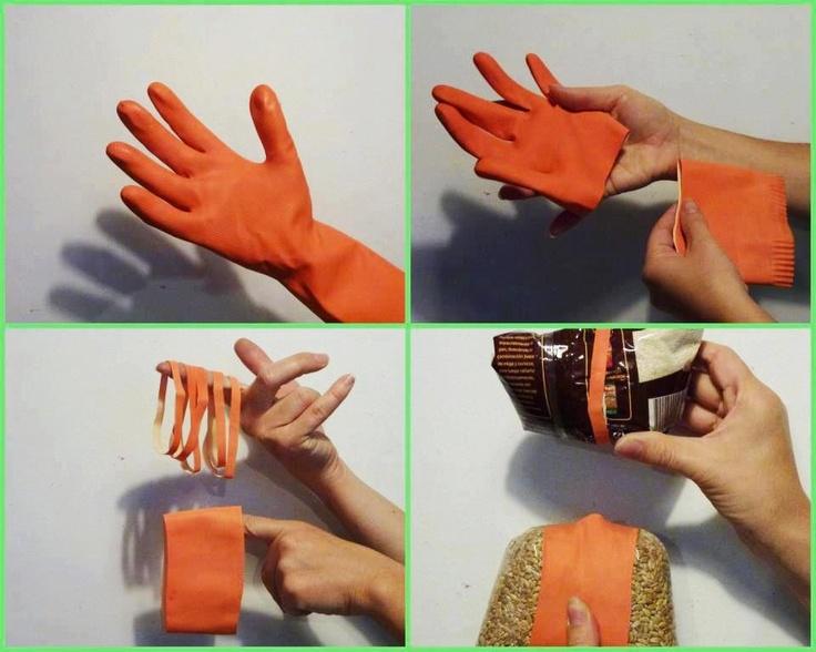 Reutilizar guantes