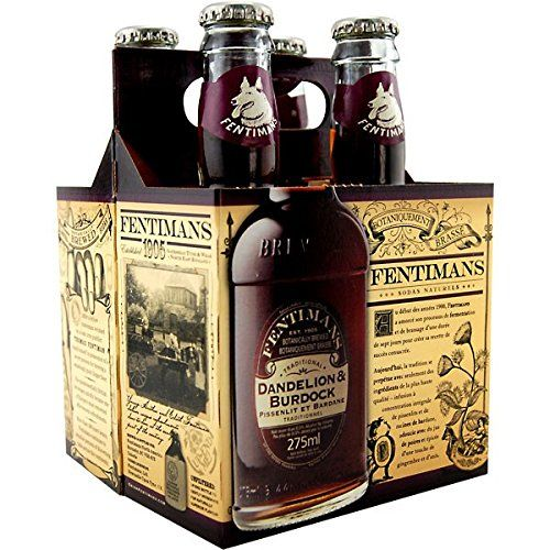 Fentimans Dandelion and Burdock, 4 ct | nice packaging for a commercial herbal drink