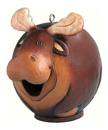 Look at this #zulilyfind! Moose Gord-O Birdhouse #zulilyfinds