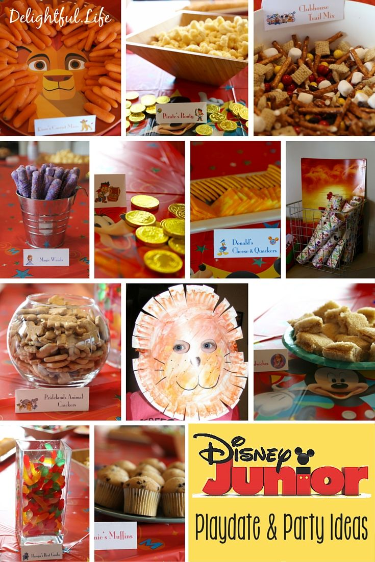 Host a Disney Junior preschool playdate or a party with these fun ideas! We have recipes, crafts, activities, decor, and more to help you have plan your event. Featuring Jake and the Neverland Pirates, Sofia the First, Mickey Mouse Clubhouse, and The Lion Guard, we've covered Disney Junior fans of all ages!