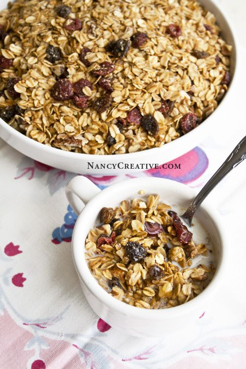 Cranberry, Raisin, Nuts, toasted oats cereal