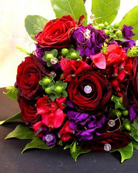 Jewel coloured flowers