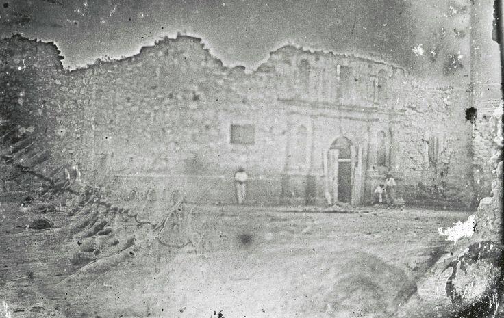 The Alamo - 1849: daguerreotype of the former Mission San Antonio de Valero (scene of the famous February/March 1836 seige & battle),  San Antonio, TX