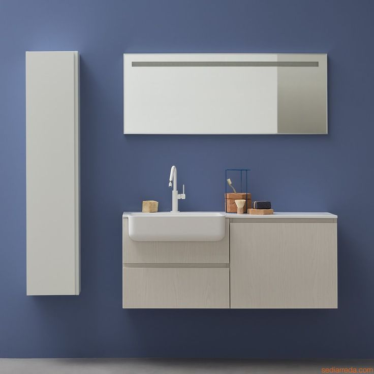 Lapis E by Birex - Sink cabinet with drawers