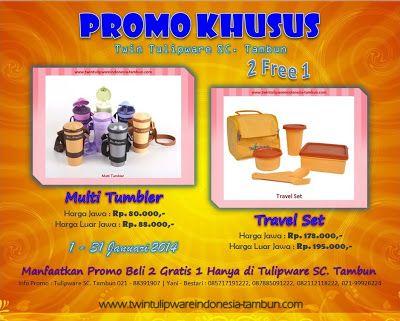 Promo Tulipware Bulan Januari 2014 - Khusus SC. Tambun | Twin Tulipware SC. Tambun