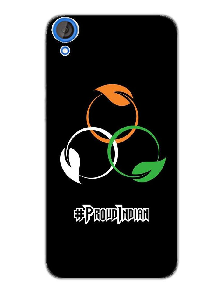 Proud Indian - Tricolour Pattern - Designer Mobile Phone Case Cover for HTC Desire 820