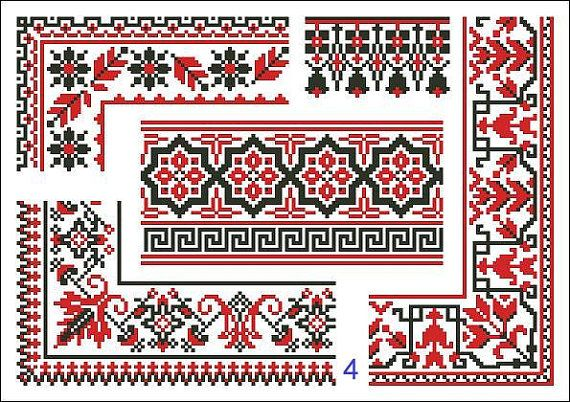 Cross Stitch Pattern Antique Repeating Borders by MyTreasureIsland