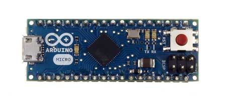 The Arduino Micro is a microcontroller board based on the ATmega32u4 designed for breadboard use.