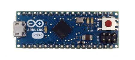 The Arduino Micro is a microcontroller board based on the ATmega32u4 designed for breadboard use.