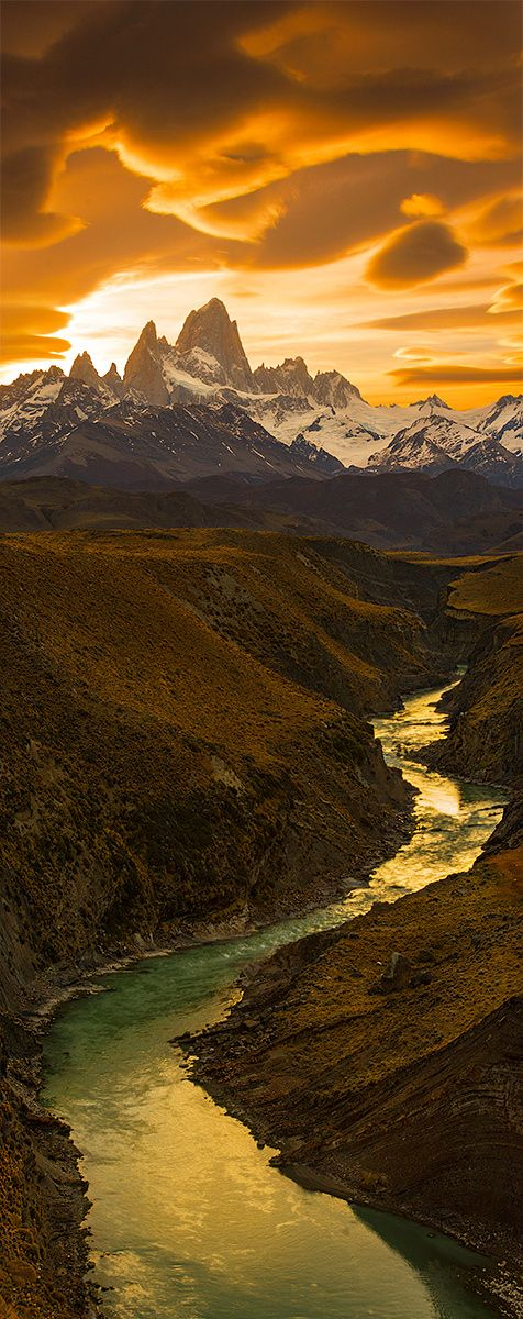 Fritz Roy Light Gorge | Patagonia Mountains, Argentina | by Bsam