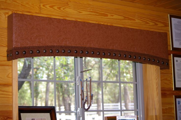 Rustic/Western cornice board | window treatments