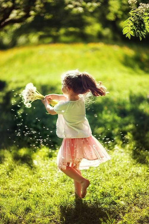 Playing with dandelions… play light hearted… play with childhood innocence. So much magic in the world!