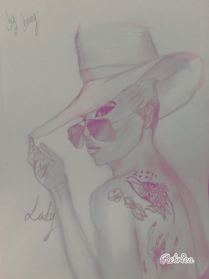 Lady Gaga Drawing by me