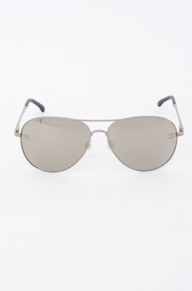 96962bd899259 CHANEL Pilot Summer 4189-T-Q Silver Metal Mirror Lenses CC VE Aviator  Sunglasses  fashion  clothing  shoes  accessories  womensaccessories ...