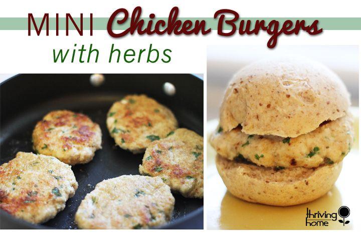 Mini Chicken Burgers Tasty? Check. Kids like them? Check. Easy to make? Check. Healthy? Check. Freezable? Check.