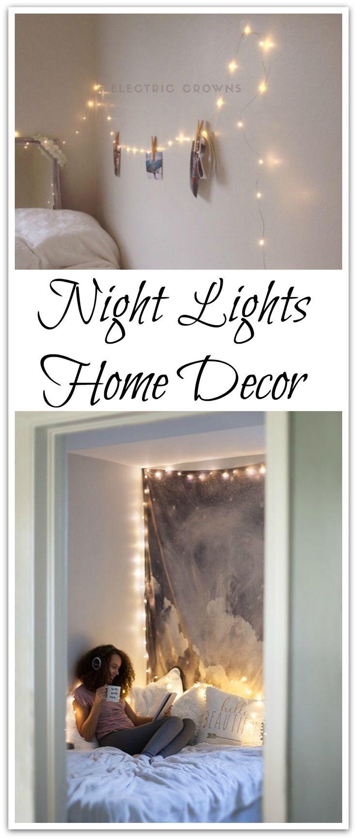 Night Light Fairy Lights Bedroom Home Decor Living Room Wall