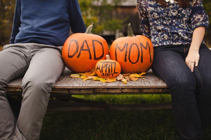 Pumpkin Pregnancy Announcement Baby Maesie Pinterest