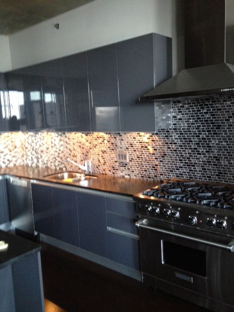 Eden Mosaic Tile Stainless Steel And Crackled Glass Mosaic Mix