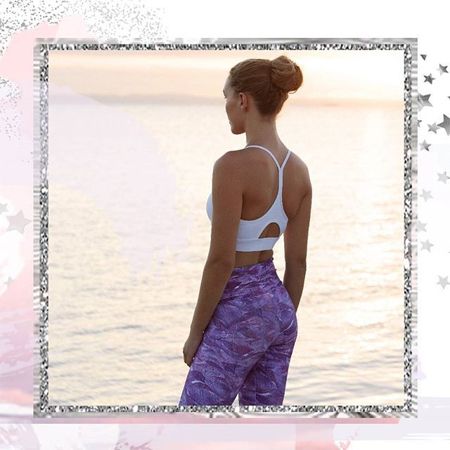 Just landed! Breathe easy in the shimmering hues of our Amethyst Sea Higher Rise 7/8 Tight, designed with an extra wide, power mesh lined waistband for coverage and support around your core, visit abiandjoseph.com to take a closer look