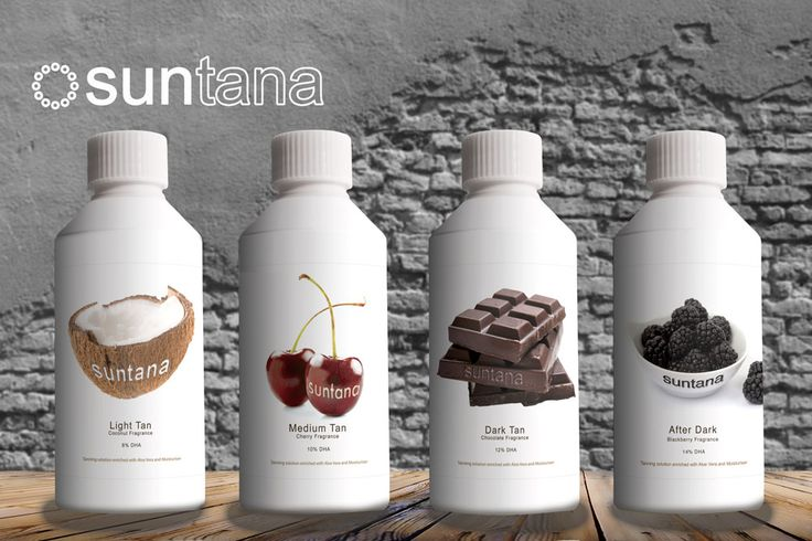 This is four of our spray tan solutions. The lovely scents of Coconut, Cherry, Chocolate and Blackberry! x
