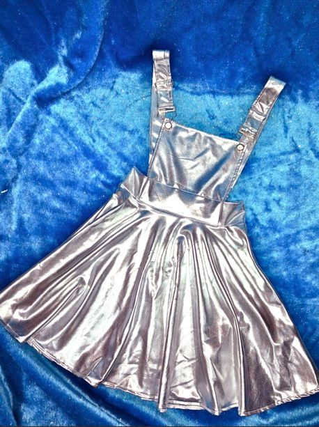 Watch out space baby is hereeeee tailored pinafore for Space baby fabric
