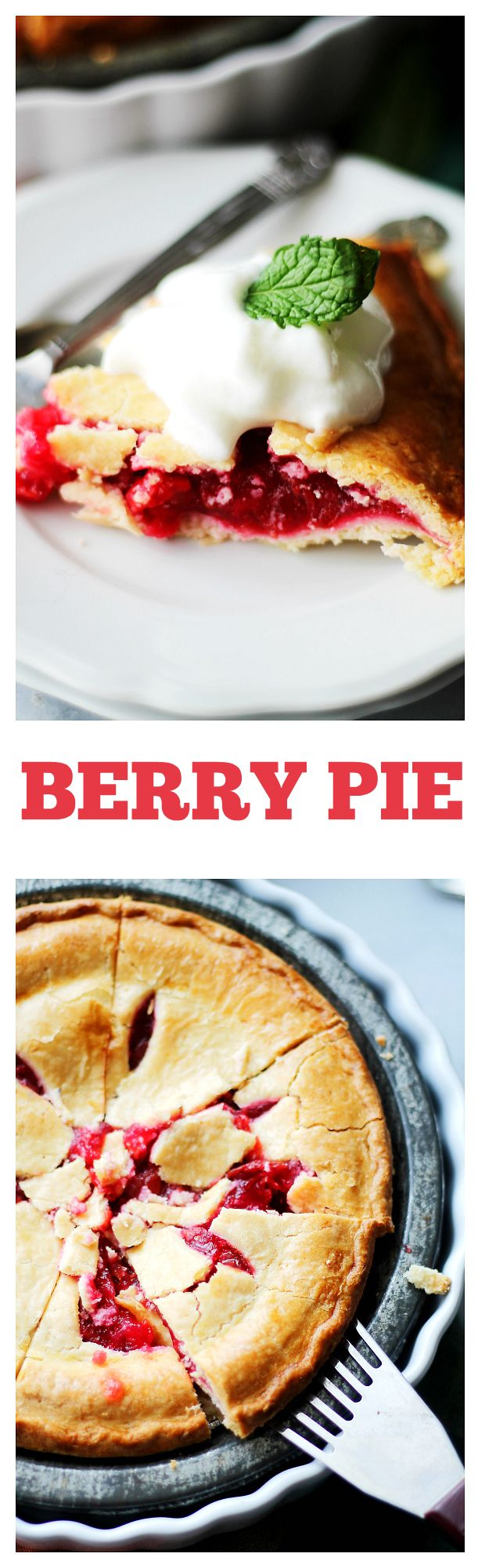 Berry Pie | www.diethood.com | Lightened-up flaky pie crust filled with a tangy and delicious mixture of berries.