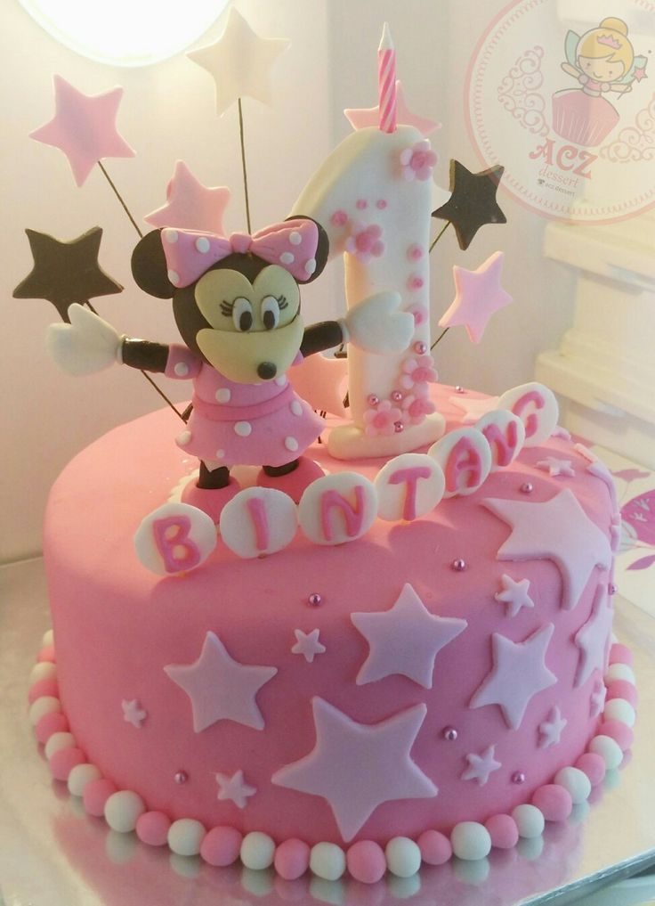 Minnie mouse surrounded by the stars