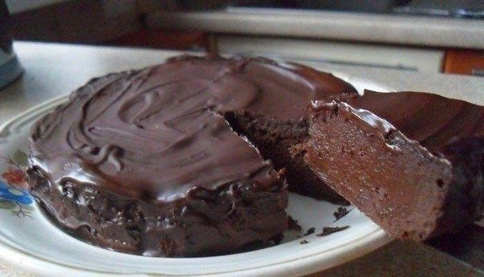 čokoládová torta (bez muky a cukru)