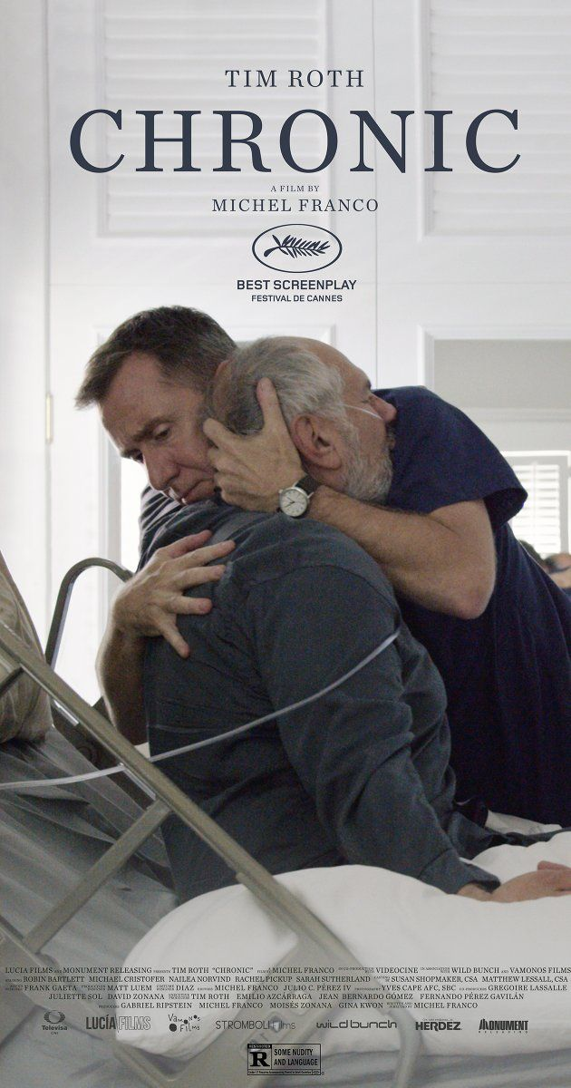 Directed by Michel Franco.  With Tim Roth, Elizabeth Tulloch, David Dastmalchian, Maribeth Monroe. A home care nurse works with terminally ill patients.