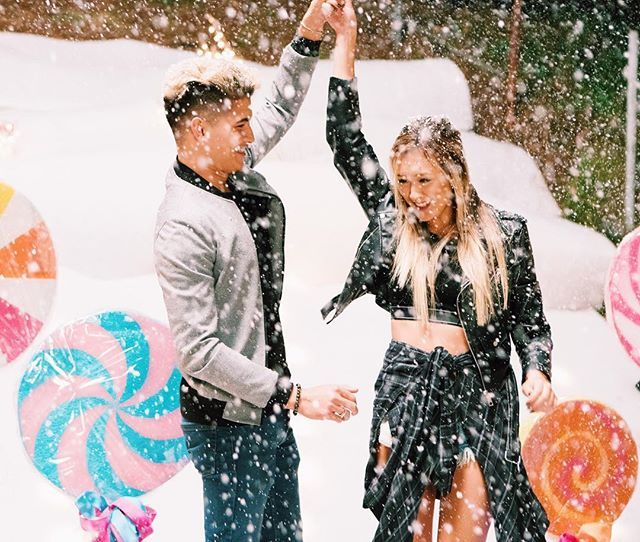 a very cali christmas with @alexwassabi ❄️❤️ can I have a fake snow machine follow me around 24/7??? PS THE NEW #SUNDIY IS LIVE!!! leave me a ❄️ if you've already seen it ✨